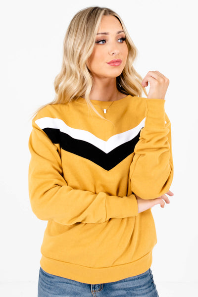 Mustard Yellow Cute and Comfortable Boutique Pullovers for Women