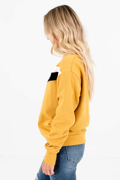 Women's Mustard Yellow Warm and Cozy Boutique Pullover