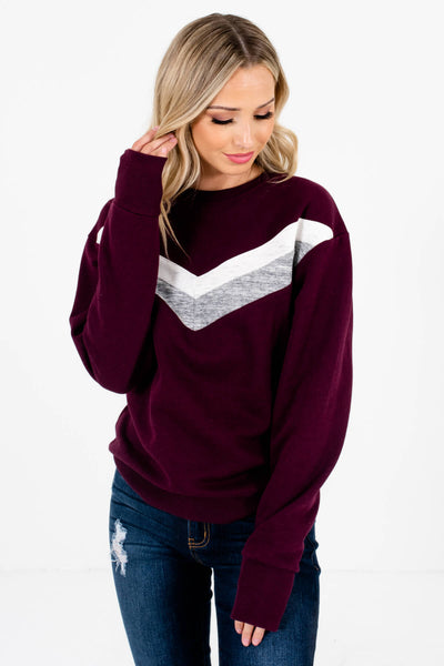Dark Purple Cute and Comfortable Boutique Pullovers for Women