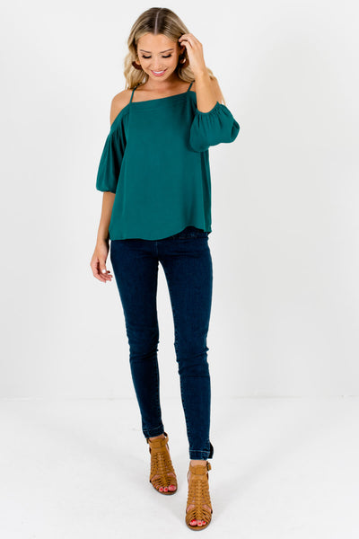 Women's Teal Green Spring and Summertime Boutique Clothing