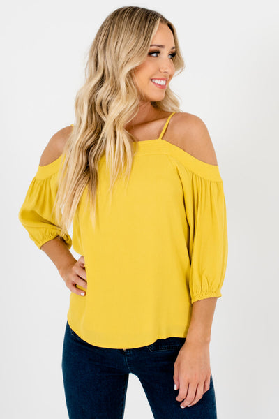 Women's High-Quality Lightweight Boutique Cold Shoulder Tops