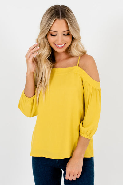 Yellow Cute and Comfortable Boutique Tops for Women