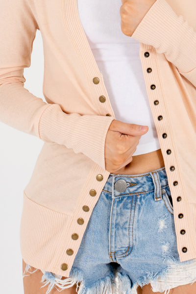 Peachy Beige Brown Affordable Online Boutique Clothing for Women