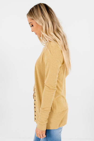 Light  Brown Soft and Stretchy Boutique Cardigans for Women