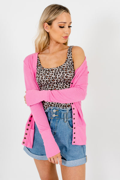 Pink Soft and Stretchy Boutique Cardigans for Women