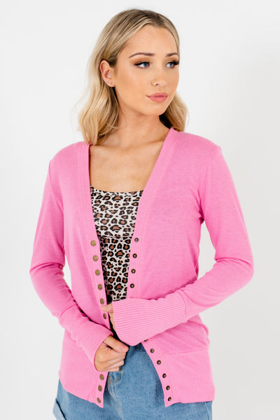 Pink Cute and Comfortable Boutique Cardigans for Women
