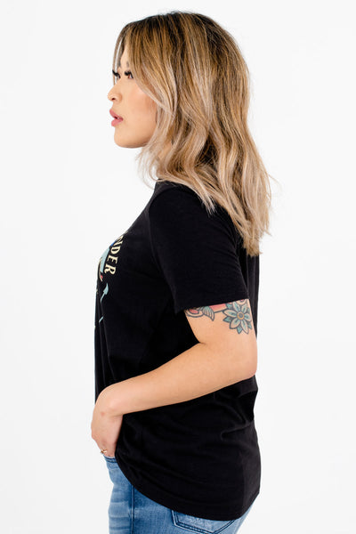 Black Casual Everyday Boutique T-Shirts for Women