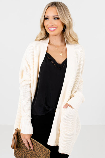 Women's Cream Layering Boutique Cardigans
