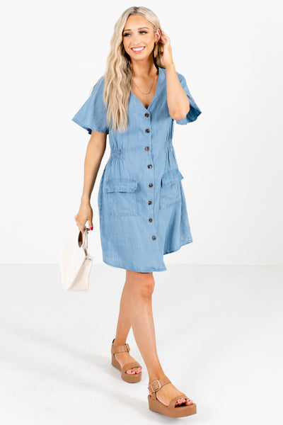 Blue Cute and Comfortable Boutique Mini Dresses for women