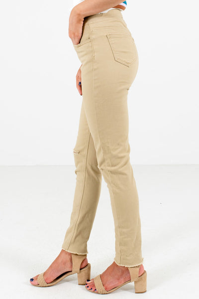 Khaki Brown Affordable Online Boutique Clothing for Women