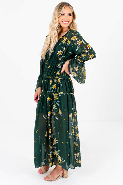 Women's Dark Green Fall and Winter Boutique Clothing