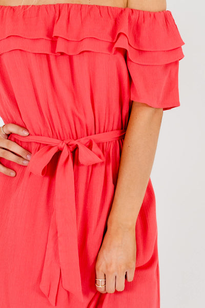 Coral Pink Affordable Online Boutique Clothing for Women