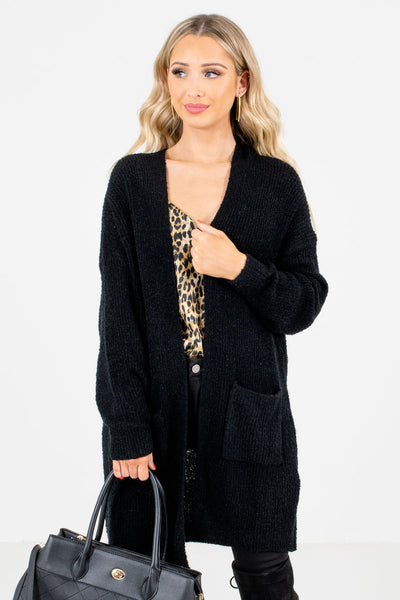 Women's Black Layering Boutique Cardigans