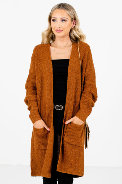 Women's Rust Orange Warm and Cozy Boutique Clothing