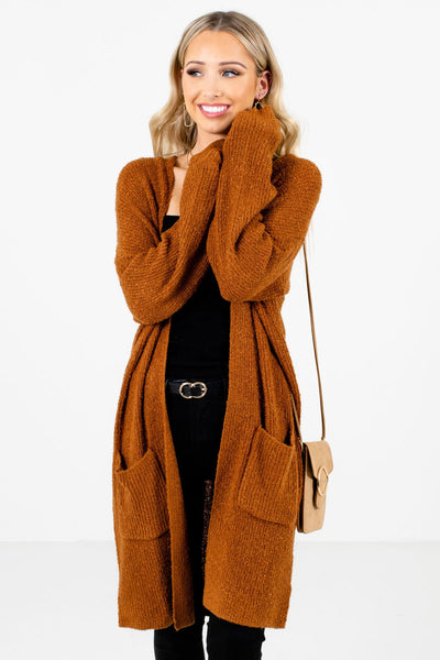 Women's Rust Orange Layering Boutique Cardigans