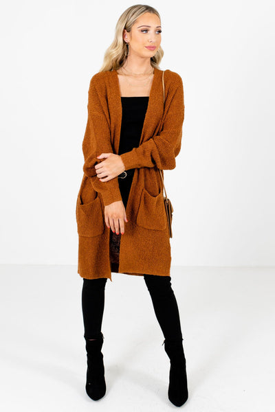 Rust Orange Cute and Comfortable Boutique Cardigans for Women