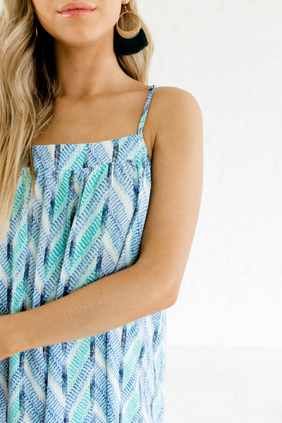 Blue and Green Affordable Online Boutique Clothing for Women