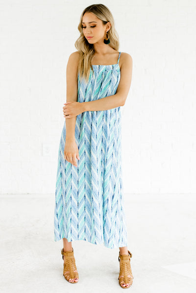 Women's Blue and Green Spring and Summertime boutique Clothing