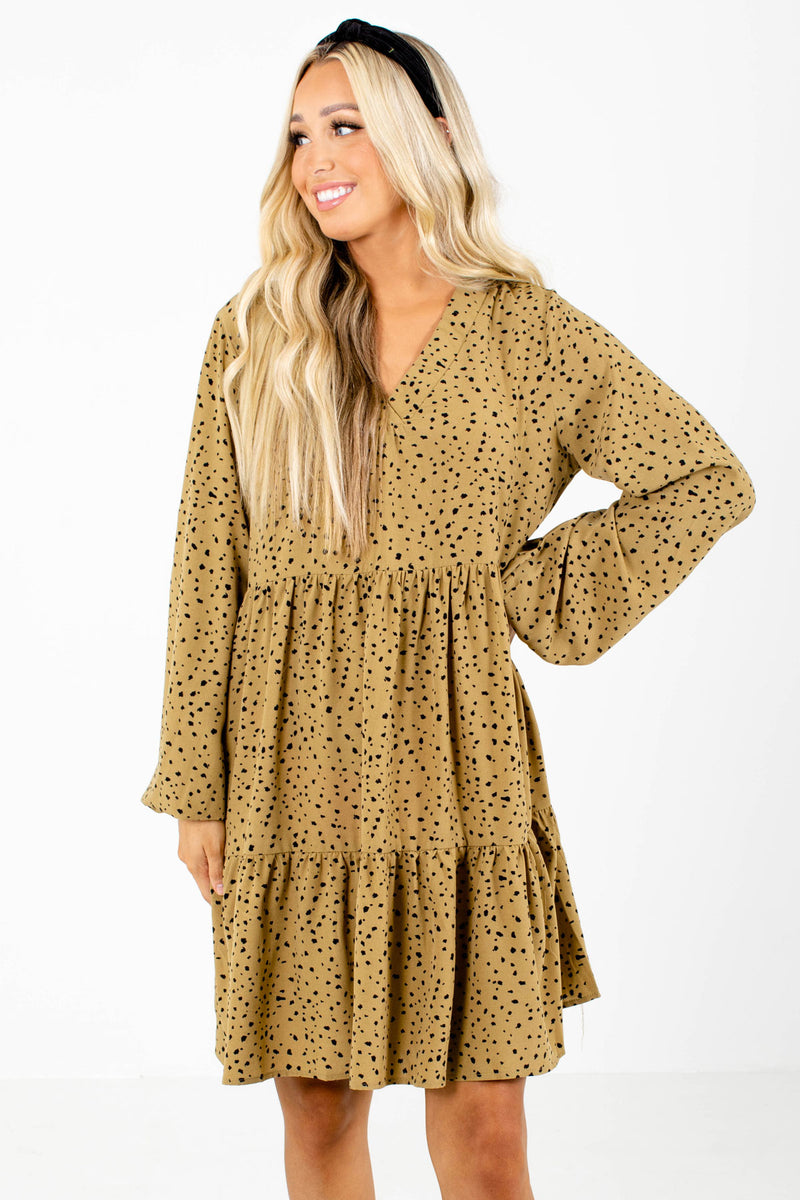 Off The Grid Patterned Mini Dress