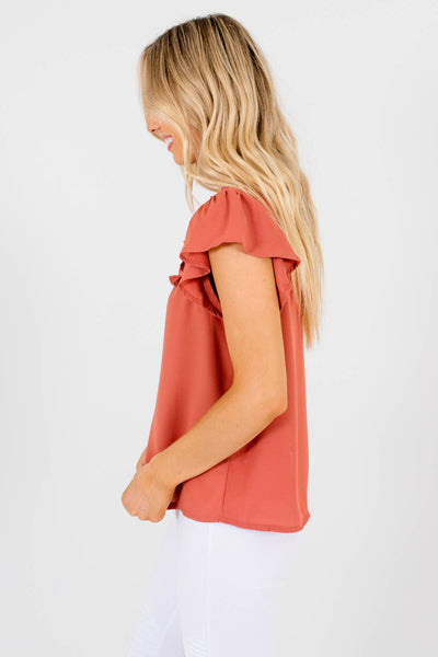Dark Pink High-Quality Lightweight Boutique Blouses for Women