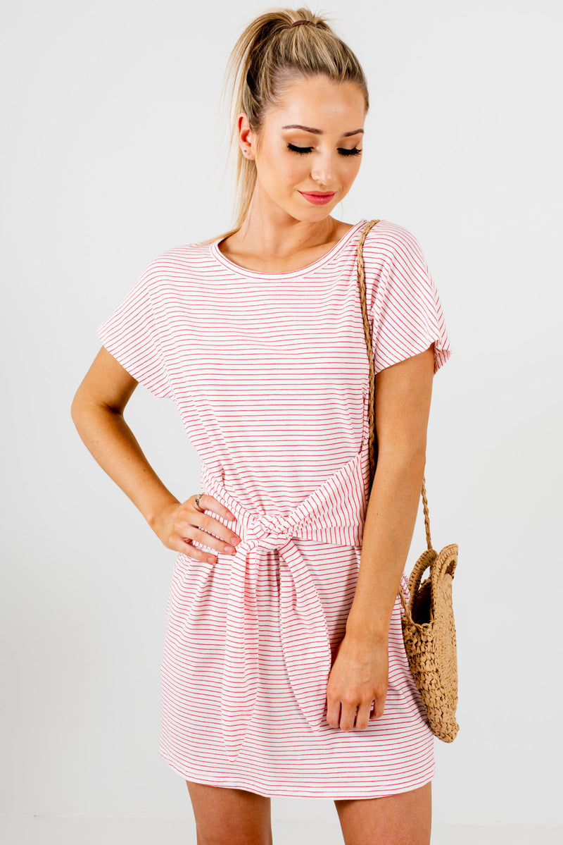 Oh So Sweet White Striped Mini Dress