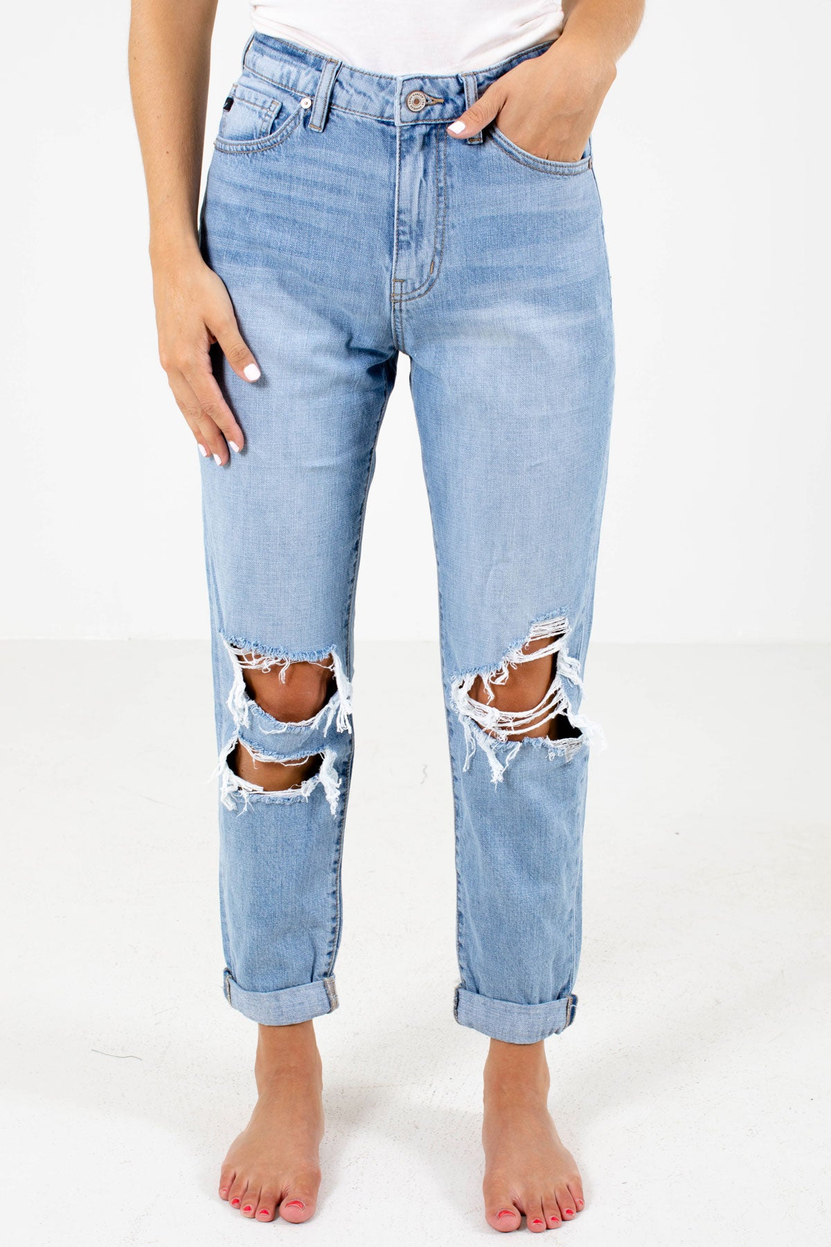Light Wash Blue Boutique KanCan Jeans for Women