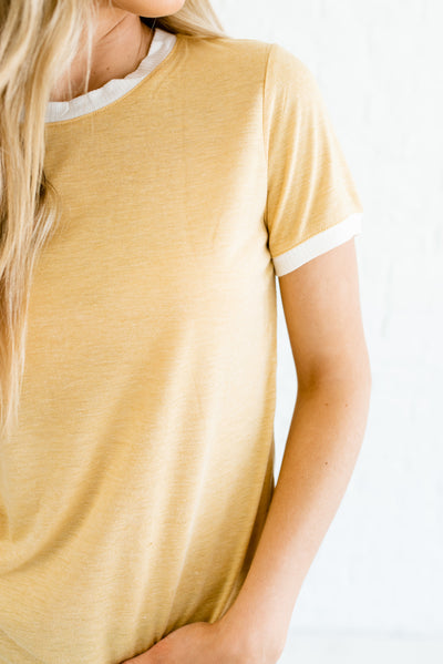 Yellow and White Affordable Online Boutique Clothing for Women