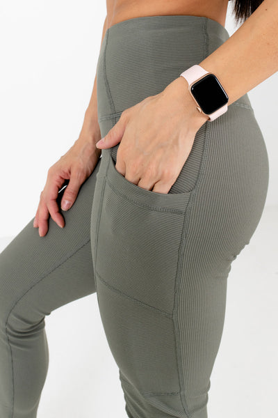 Olive Green Affordable Online Boutique Workout Clothing for Women
