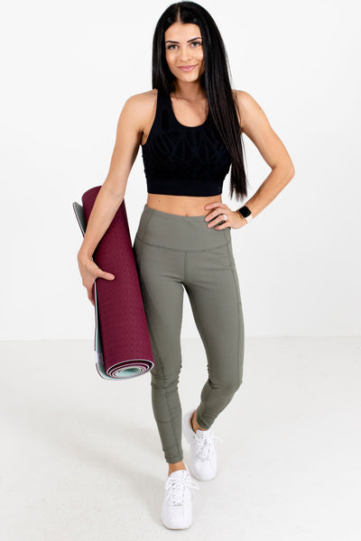 Women's Olive Green Workout Boutique Clothing