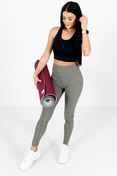 Women's Olive Green Cute and Comfortable Active Leggings