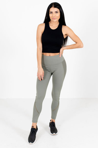 Olive Green Cute and Comfortable Boutique Active Leggings for Women