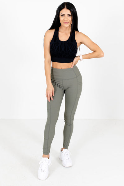 Olive Green Casual Everyday Boutique Leggings for Women