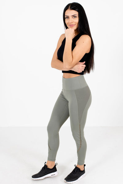 Women's Olive Green Casual Everyday Boutique Active Leggings