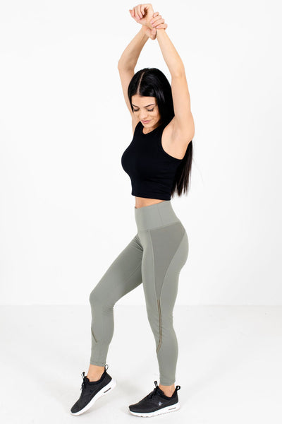 Women's Olive Green Boutique Workout Activewear