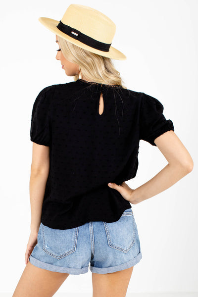 Women's Black Lightweight Boutique Blouse