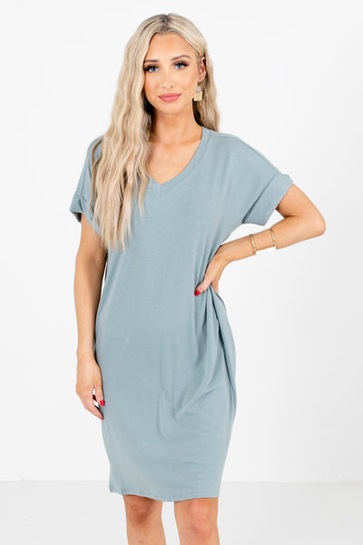 Green High-Quality Lightweight Material Boutique Dresses for Women