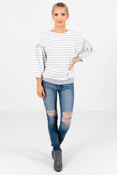 Women's White Fall and Winter Boutique Clothing