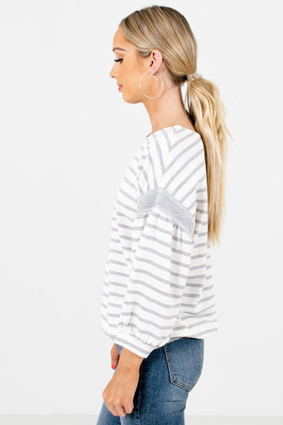 White Relaxed Fit Boutique Tops for Women