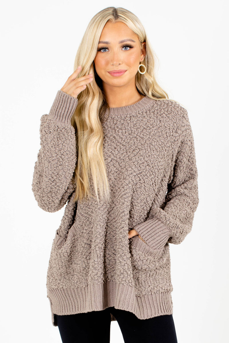 Open Arms Popcorn Knit Sweater