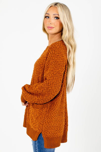 Women's Orange Fall and Winter Boutique Clothing