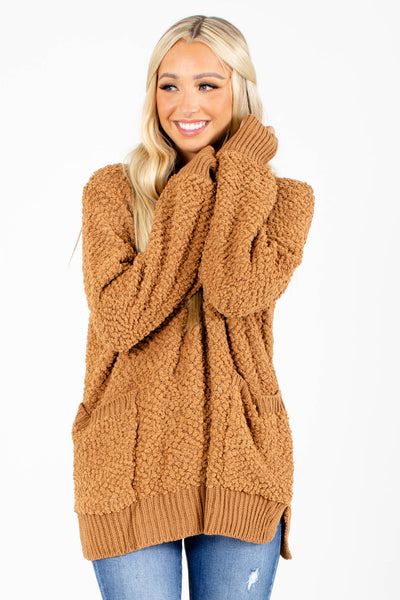 Brown Cute and Comfortable Boutique Sweaters for Women