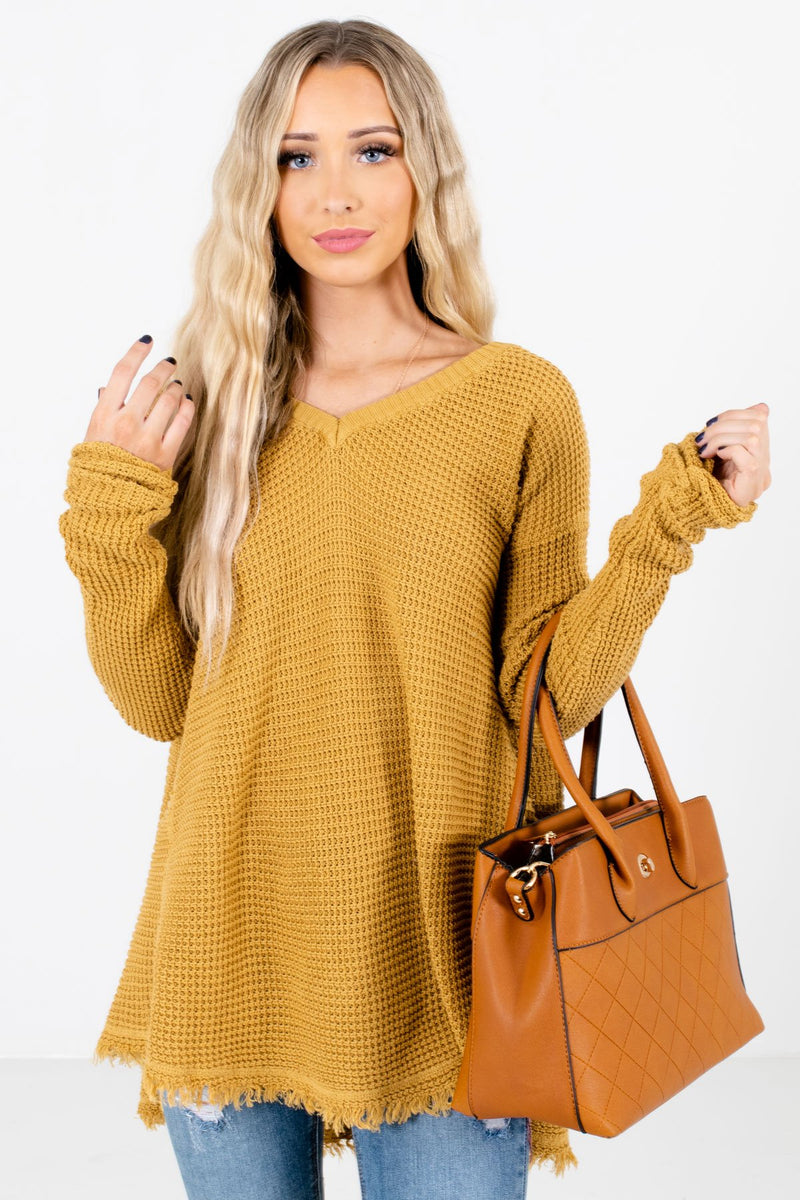 Open-Minded Mustard Knit Sweater