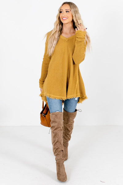 Women's Mustard Warm and Cozy Boutique Sweater