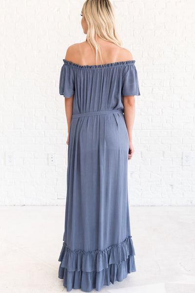 Slate Blue Women's Long Dresses