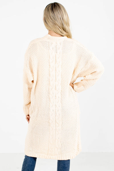 Women's Cream Layering Boutique Cardigan