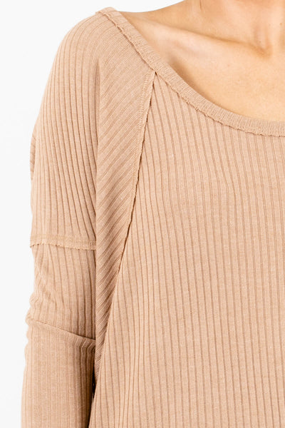 Tan Brown Affordable Online Boutique Clothing for Women