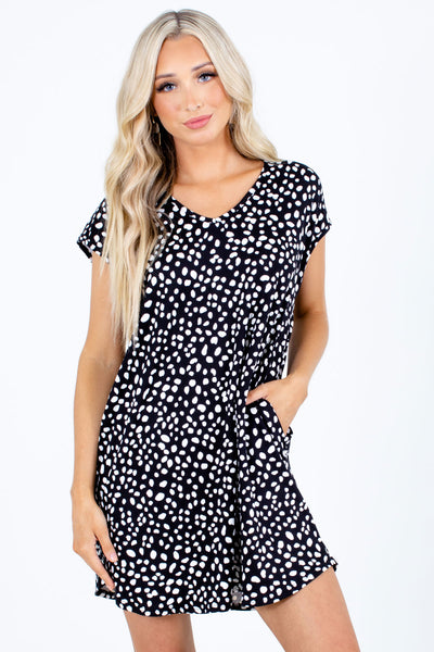 Black High-Quality Boutique Mini Dresses for Women