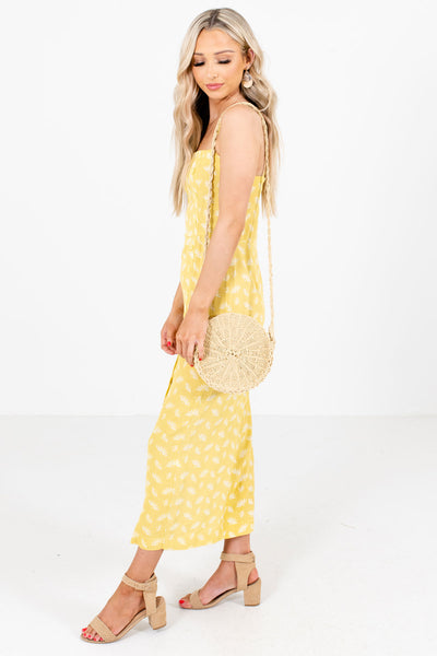 Women's Yellow Spring and Summertime Boutique Clothing