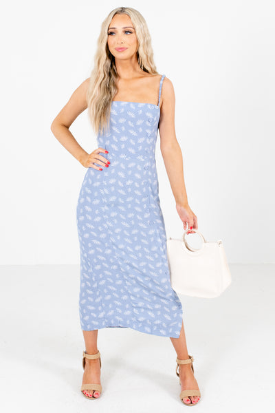 Blue Patterned Boutique Maxi Dresses for Women