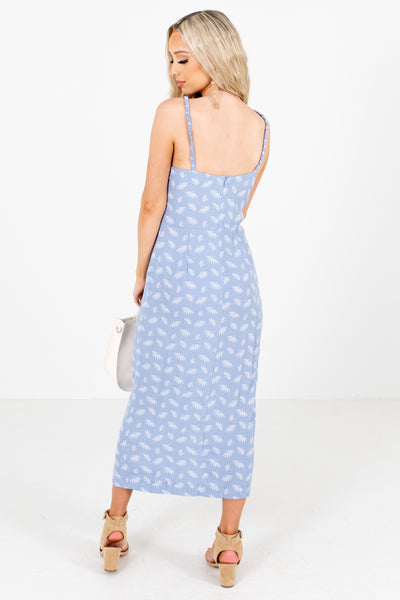 Women's Blue Tank Style Boutique Maxi Dress